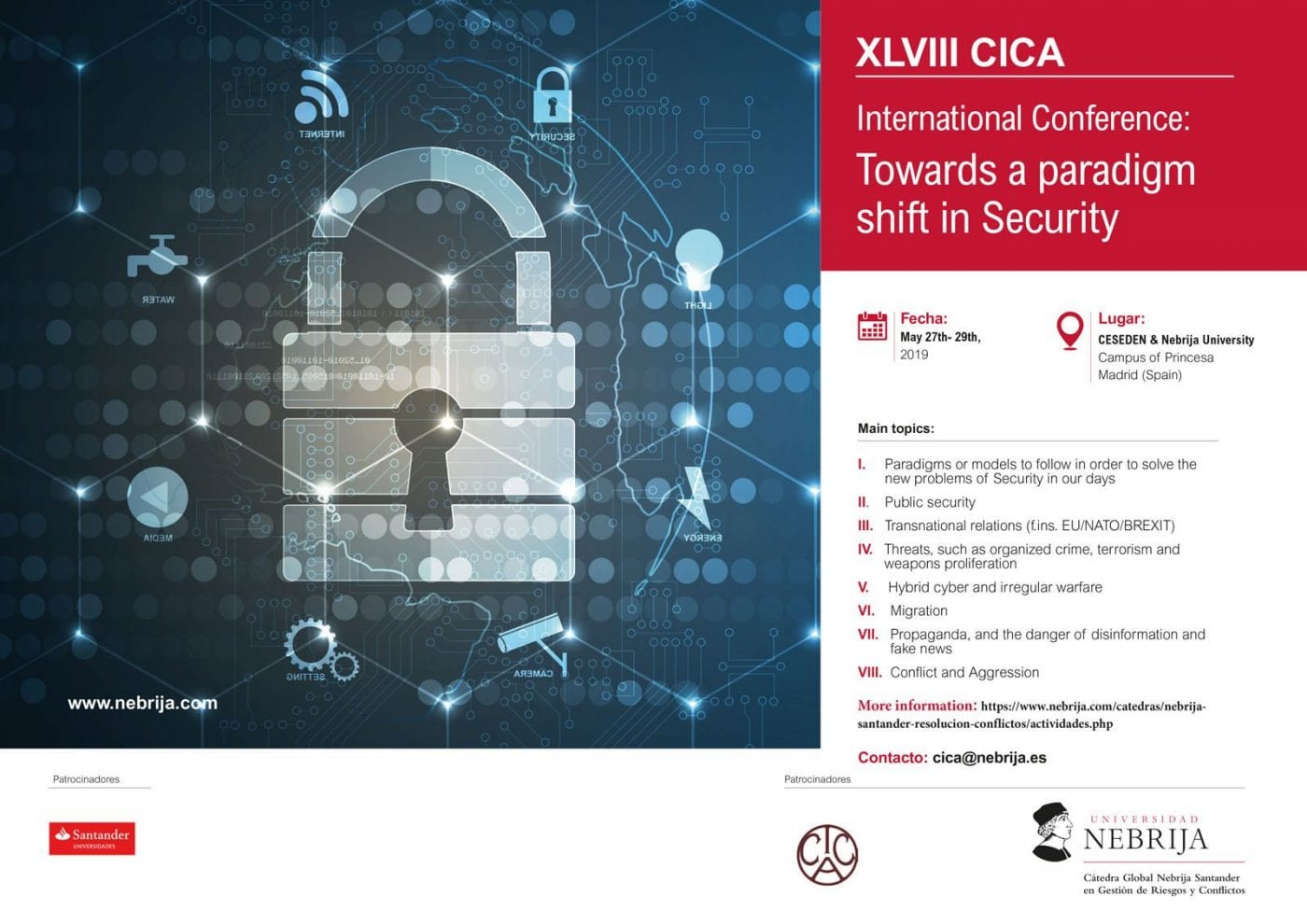 XLVIII CICA – Towards a paradigm shift in Security -27/29 May 2019 – Madrid